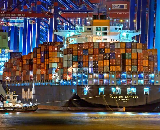 container parts ship
